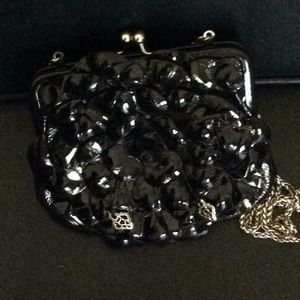 Brighton patent leather flower coin purse